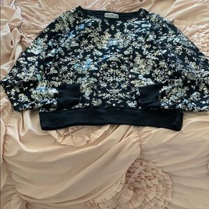 Wildfox Floral Print Pullover Size L
